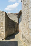 Lautrec (France), old village. Lautrec (Tarn, Midi-Pyrenees, France), medieval village: a street Royalty Free Stock Images