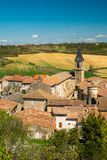 Lautrec village rooftops, France Stock Photos