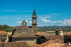 Lautrec village rooftops, France. View over Lautrec village rooftops, France Stock Photos