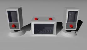 Lautsprecher 3D Stockbilder