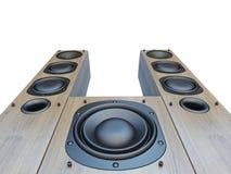 Lautsprecher 3d CG lizenzfreie abbildung