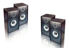 Lautsprecher getrennt auf Weiß Stockfoto