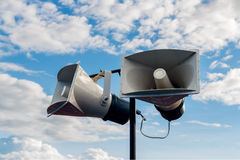 Lautsprecher getrennt auf Weiß Stockfotografie
