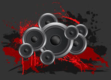 Lautsprecher-Hintergrund stock abbildung