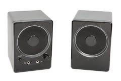 Lautsprecher klingen für den Computer auf einem weißen Hintergrund Lizenzfreie Stockbilder