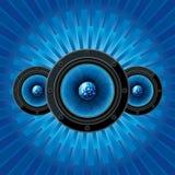Lautsprecher mit Discokugel Stockbild