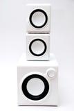 Lautsprecher mit drei Weiß lizenzfreies stockfoto