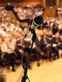 Lautsprecher am Seminar Lizenzfreies Stockbild