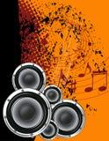 Lautsprecher und Anmerkungen lizenzfreie abbildung