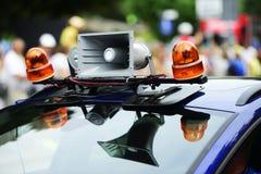 Lautsprecher und Blitzgeber auf dem Auto Lizenzfreies Stockfoto