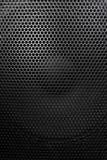Lautsprechergitter mit runden Öffnungen Stockfotos