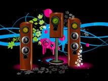 Lautsprecherhintergrund Stockbilder