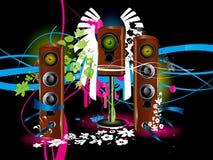 Lautsprecherhintergrund Stockbild