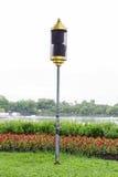 Lautsprecherpfosten im Garten Lizenzfreies Stockbild