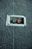 LautsprecherVerschlussstopfen-Öffnungen Stockbild