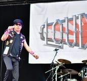 Lautstärkemetallband-Livekonzert 2016, Hellfest-Festival Stockbild