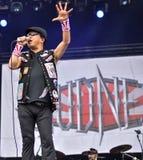 Lautstärkemetallband-Livekonzert 2016, Hellfest-Festival Lizenzfreie Stockfotos