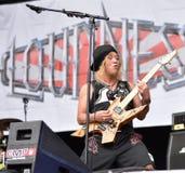 Lautstärkemetallband-Livekonzert 2016, Hellfest-Festival Stockfoto