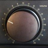 Lautstärkeregler stockfotografie
