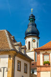 Lautturm tower of the Holy Trinity Church in Speyer Stock Image