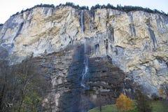 Lauuterbrunner瀑布 库存图片