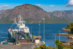 Lauvik ferry has arrived Royalty Free Stock Photos