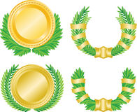 Lauwerkrans en medaille royalty-vrije illustratie