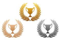 Lauwerkrans met trofee vector illustratie