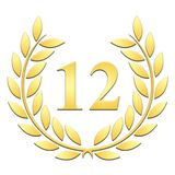 Lauwerkrans twaalfde verjaardag op een witte achtergrond vector illustratie