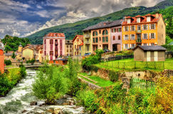 The Lauze river in Ax-les-Thermes - France royalty free stock images
