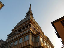 Lavågbrytare Antonelliana, Turin, Italien Royaltyfria Bilder