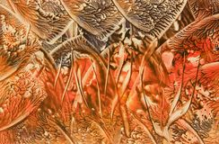 Lava. Picture of a molten wax painting(encaustic technique Royalty Free Stock Image
