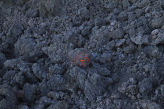 Lava aa nel raffreddamento Fotografie Stock Libere da Diritti