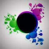 Lava abstracta con el fondo radial libre illustration