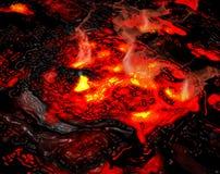 Lava ardente Fotografie Stock
