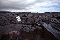Lava auf der Straße Lizenzfreie Stockfotografie
