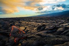 Lava auf Hawaii-` s großer Insel stockfotografie