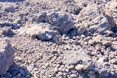 Lava Basaltic Rock seco imagens de stock