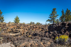 Lava Beds And Lava Flow Area Stock Photos