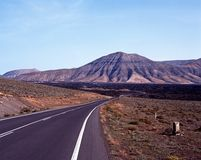 Lava beds, Lanzarote. Stock Photography