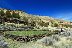 Free Lava Beds National Monument, Tule Lake, California, USA - Historic Cemetery From Modoc War Below Gillem Bluff Royalty Free Stock Images - 144626269