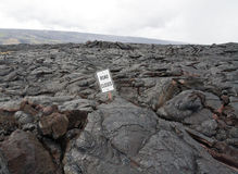 Lava on the Big Island of Hawaii. Lava flow on the Big Island of Hawaii. Most of the time the volcanoes on Hawaii erupt at a very calm pace (with 'aloha') Royalty Free Stock Photos