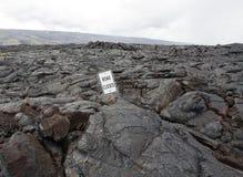 Lava on the Big Island of Hawaii Royalty Free Stock Photos