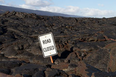 Lava blocked the road Royalty Free Stock Photos