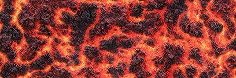 Lava calda Superficie bruciante della crepa dei carboni royalty illustrazione gratis