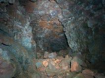 Lava Cave em Islândia Foto de Stock