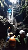 Lava cave Iceland Stock Photos