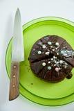 Lava chocolate cake Royalty Free Stock Image