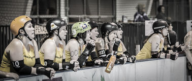 Lava City Girls Cheer Teammates Royalty-vrije Stock Afbeelding