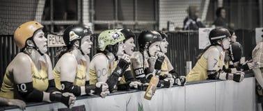 Lava City Girls Cheer Teammates Royalty Free Stock Image
